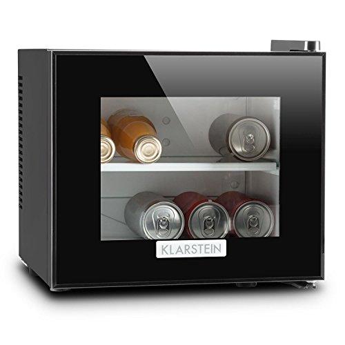 Klarstein Frosty mino frigo con porta in doppio vetro isolato (ultracompatto, 10 litri, 65W, classe...