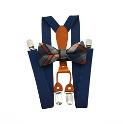 Set bretelle e papillon in Pura Pelle