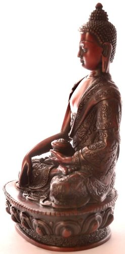 BUDDHAFIGUREN Estatua de Buda - Resina de Shakyamuni Buda Figura 19 cm rotbraun 4