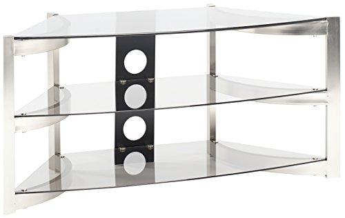 Techlink Skala angolare con ripiani vetro fumé, per TV