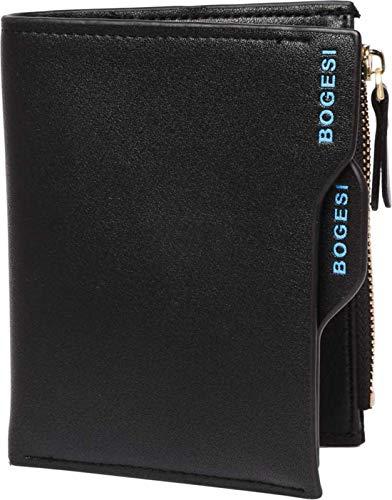 Bogesi Bi-Fold Men's Wallet (W-816)- Black