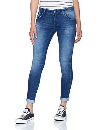 Mavi Damen Skinny Jeans Lexy, Blau (Mid Brushed Glam 24055), W30