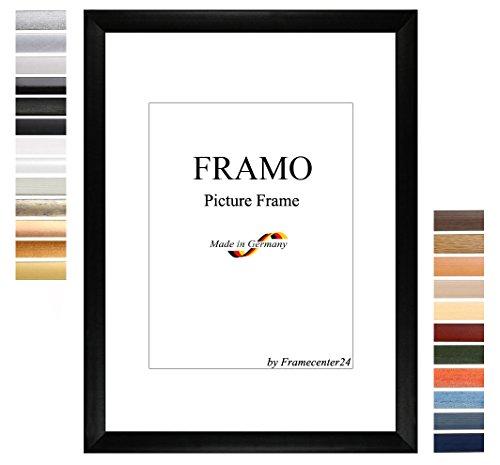 FRAMO 35mm cornice di puzzle 37,5 x 98 cm, Colore: Nero Opaco, Cornice in MDF fatta a mano con...
