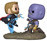 Funko- Pop Bobble 2-Pack: Marvel: Movie Moments: Thor vs Thanos AIW Idea Regalo, Statue, COLLEZIONABILI, Comics, Manga, Serie TV, Multicolore, 35799