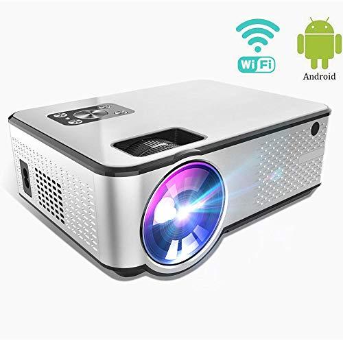 DAETNG Mini Video proiettore WiFi, Smartphone, Tablet, chiavetta TV, Lettore di Giochi, Display Home...