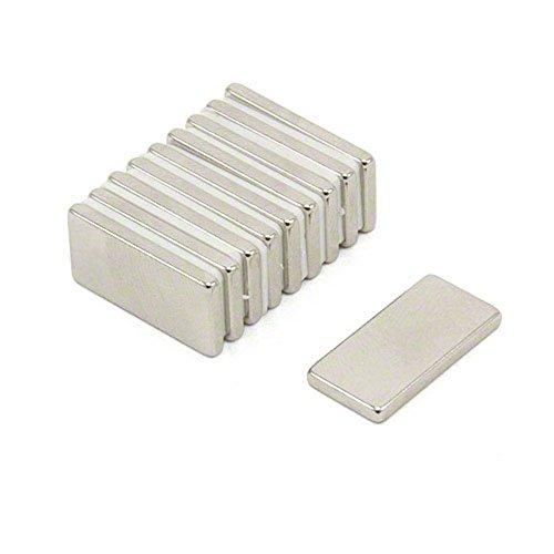 magnetastico | 40 pezzi Magnete Neodimio N52 rettangolo 20X10X2 mm | Magnete frigo bacheca magnetica...