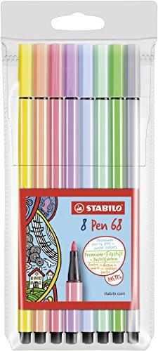 Stabilo Pen 68 Astuccio da 8 Colori Pastello, 8 Pezzi