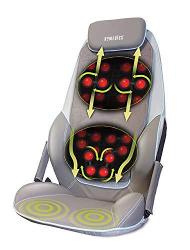 HoMedics  CBS-1000-EU  Seduta  Massaggiante  con  Sistema  a  T,  Shiatzu  Max  2.0,  14  Programmi  Selezionabili,  Opzione  Calore,  Seduta  con  Vibrazione  Sotto  la  Coscia,  Telecomando