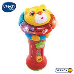 VTech- Microfono con Sonidos y Voces, Color (3480-184022)