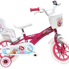 Bicicleta de 12 Pulgadas para niña Princess 2 Frenos con portamuñecas traseras.