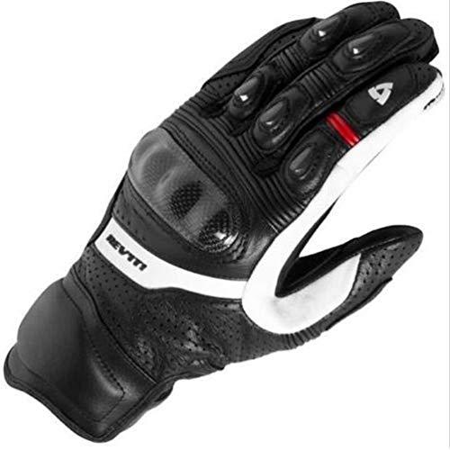 Guanti moto full finger in pelle da uomo, guanti da motociclista da equitazione anti-manganismo in...