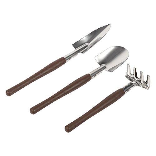 Set de 3 piezas Mini herramientas para macetas de jardinería, pala pequeña de mano pala Rastrillo jardinería Set de trabajo para niños juguetes regalos para plantas de cactus suculentas(plástico)