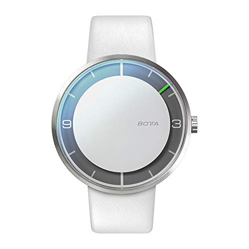 Botta-Design NOVA+ Automatik Armbanduhr - Einzeigeruhr, Edelstahl, Lederband (44 mm, All Black)