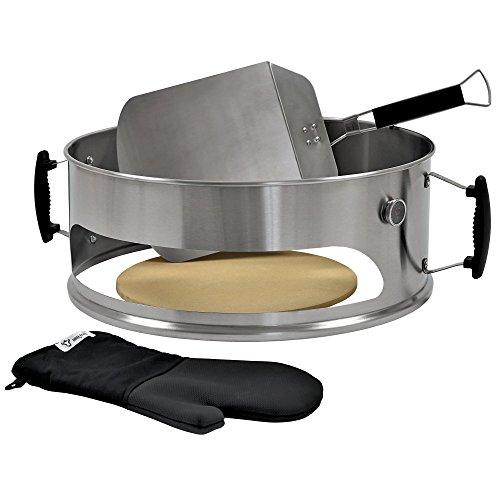 BBQ-Toro - Accessorio per Pizza, in Acciaio Inox, Adatto per Barbecue a Sfera Weber da 57 cm, con...