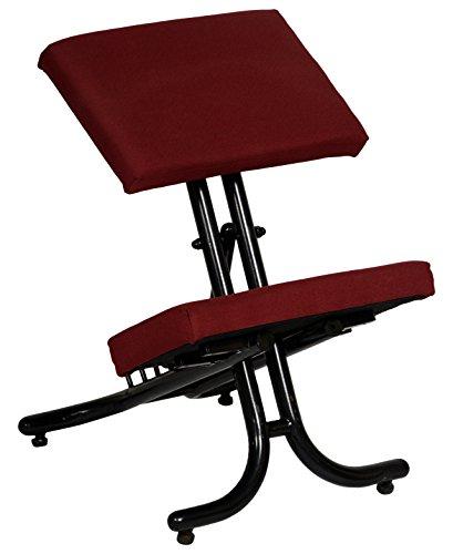 KOZY CORNER PU Foam Fabric Knee Chair (Red)