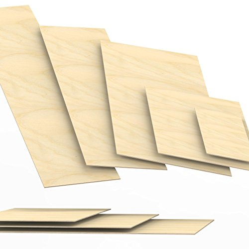 3mm Sperrholz-Platten Zuschnitt Länge bis 150cm Birke Multiplex-Platten Zuschnitte Auswahl: 40x40 cm