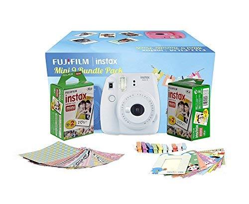 FujiFilm Instax Mini 9 Bundle Pack (Smoky White)