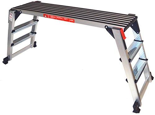 Arbeitsplattform Arbeitsbühne Gerüstleiter 70 cm Arbeitshöhe Aluleiter Tritt Stufentritt