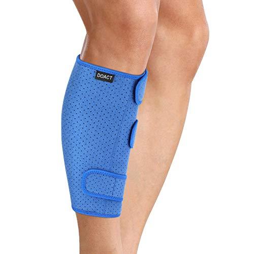 Doact Kalb Support Brace Einstellbare Schienbein Splint atmungsaktiv Calf Wadenbandage Sleeve Shin Splint Schiene Bein Kompression- Ideal für Laufen, Radfahren, Unterstützung, Durchblutung