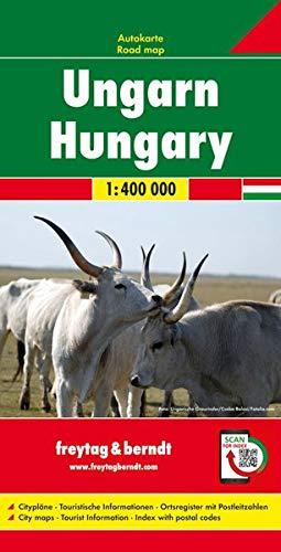 Ungarn, Autokarte 1:400.000: Wegenkaart 1:400 000 (freytag & berndt Auto + Freizeitkarten)
