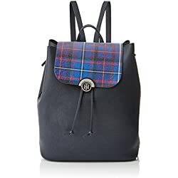 Tommy Hilfiger Effortless Novelty Backpack Print, Bolso mochila para Mujer, Varios Colores (Tommy Navy/Tartan), 15.5x36x30.5 cm (W x H x L)