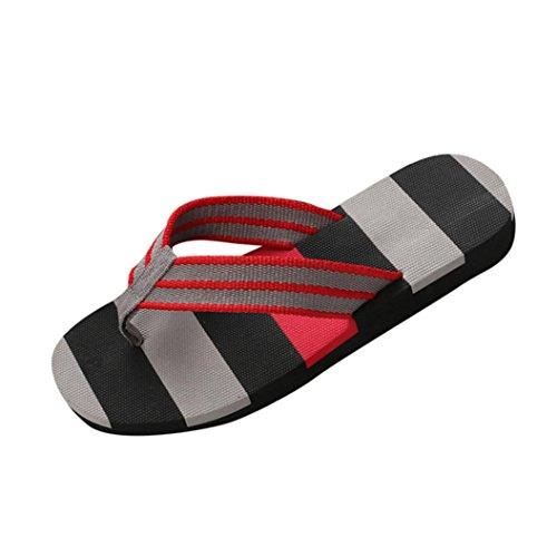 3e9c5dc52c Pantofole - UOMOGO® Mens punta rotonda Striscia Pattern Beach scarpe  infradito (Asia 42, Grigio) - Prezzo lato