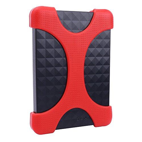Silicone Anticaduta Custodia HDD Bumper per Seagate Expansion/ Backup Plus Ultra Slim Hard Drive...