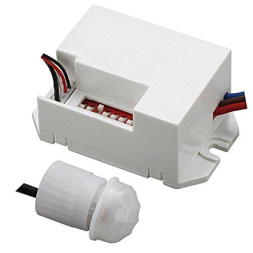 Maclean MCE32Sensore di movimento ad infrarossi passivo a 360°, da incasso
