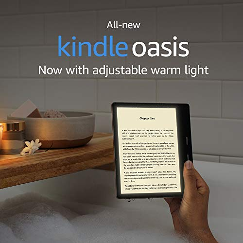 """All-New Kindle Oasis (10th Gen) - Now with adjustable warm light, 7"""" Display, Waterproof, 32 GB, WiFi + Free 4G (Graphite) 6"""