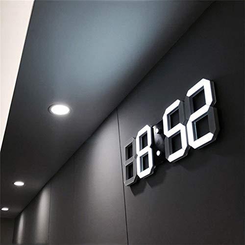 Thathereblicht Orologio da Parete Digitale a LED, con 3 Livelli di luminosità, Sveglia Elettronica, da Parete, Stereo, da Parete, USB