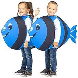 My Other Me Disfraz de Pez Cirujano Azul para niños