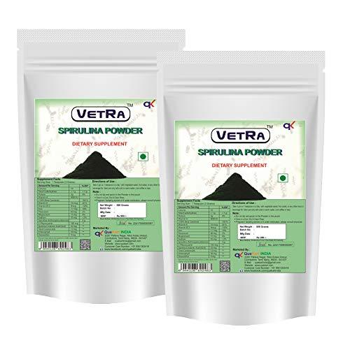 Vetra Spirulina powder 1 KG - (Pack of 2) 500 Grams