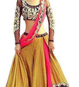 VKARAN Women's Silk Lehenga Choli (LG021_Yellow_Free) 11  VKARAN Women's Silk Lehenga Choli (LG021_Yellow_Free) 41jkb5aZ7hL