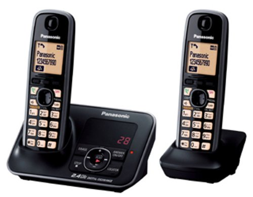 Panasonic 2.4GHz KX-TG3722SXB Digital Cordless Telephone (Black)