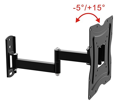 ZIPP Economy Corner Cantilever Articulating Arm Swivel and Tilt Full Motion Wall Mount Tv Bracket Stand for 13 to 37 inch LCD, Led, 3D TV's