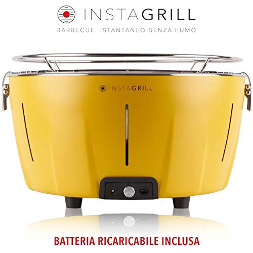 Classe Italy InstaGrill Barbecue a Carbone Senza Fumo, Giallo
