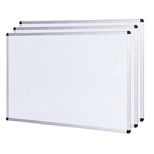 VIZ-PRO Set di 3 Lavagna Magnetica, cornice in alluminio, 60 x 45 cm