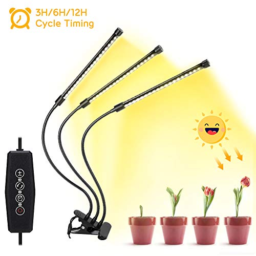LED Grow Light, Haofy Grow Light 360°Luce LED per Piante Flessibile Regolabile Impianto luci led...