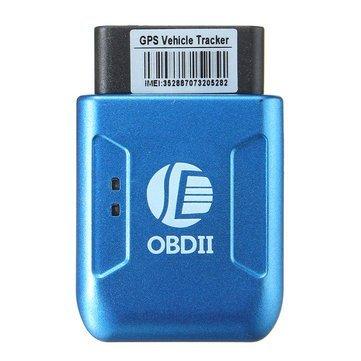 OBD II Car Vehicle GPS Realtime Tracker Truck Mini Spy Tracking Device GSM GPRS-Blue