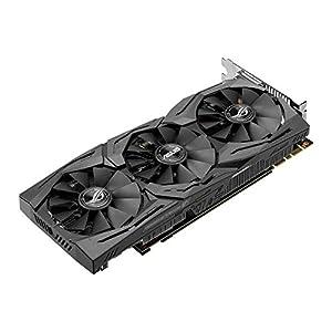 ASUS STRIX-GTX1080-A8G-GAMING - Tarjeta gráfica (Strix, NVIDIA GeForce GTX 1080, 8 GB, GDDR5X, DVI, HDMI, DP) Color Negro
