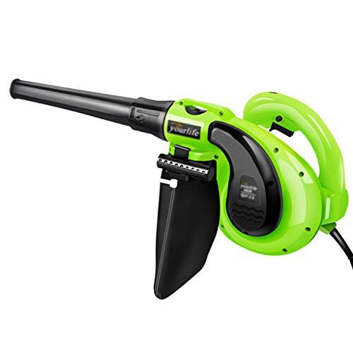 Blowers Soplador de Hojas eléctrico, de Mano, liviano, con Bolsa de recolección, Control de Velocidad de 6 Engranajes, se Puede Usar como aspiradora, para el hogar, jardín Industrial y automóvil