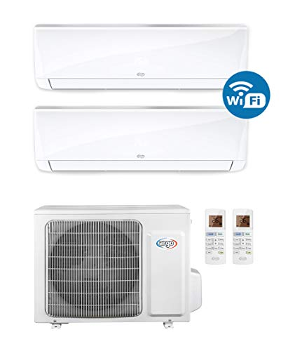 ARGO Ecowall 9 + 12 Climatizzatore Fisso, DC Inverter, con WiFi, Bianco, 9000 + 12000 BTU/h