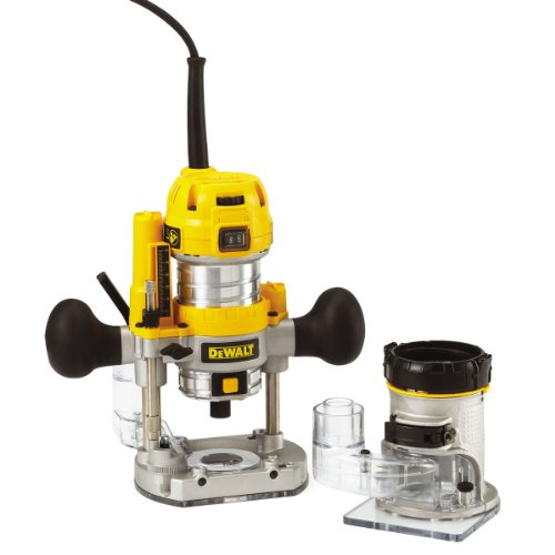 Woodworking experts will usually want a tool that is capable of getting a variety of jobs done, big or small, and the Dewalt 230V 1/4-inch Combination Plunge/ Fixed Base Router is such a good example. Apart from functioning both as a plunge router and a fixed base router, it comes with a range of accessories that would really benefit any professional woodworker.