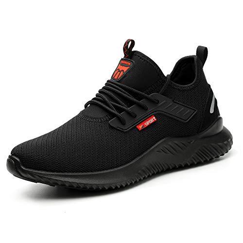 Zapatos de Seguridad para Hombre Mujer Comodos Ligeros Calzado de Trabajo con Punta de Acero Zapatos de Deportivos