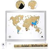 """""""We love our beautiful world"""" - Rubbel Weltkarte von havalime  Die Rubbelweltkarte von havalime ist das ideale Geschenk für alle Reisenden & Weltenbummler. Sie können mit dieser Landkarte alle bereisten Länder ganz einfach per Finger oder Münze f..."""