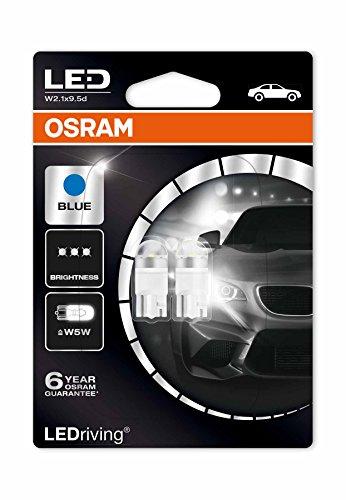 Osram 2850BL-02B LEDriving LED Retrofit W5W per Illuminazione Interna, Ice Blue 6800K, Blister...