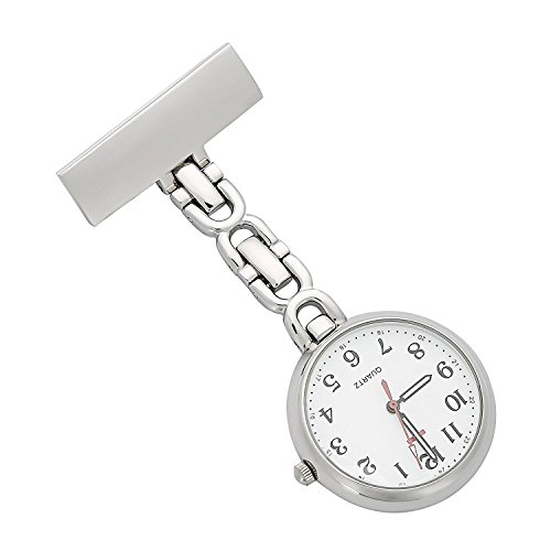 ShopyStore Nurses Lapel Pin Watch 24Hr Military Time Analog Fob Infection Control Watch Reloj De Bol
