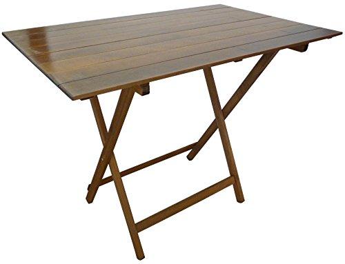 SF SAVINO FILIPPO Tavolo tavolino Pieghevole richiudibile Legno Noce Marrone 100x60 cm in faggio con...