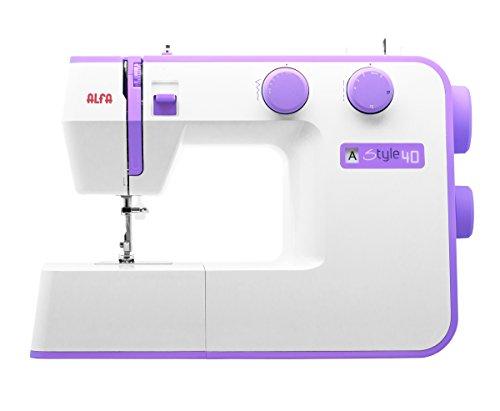 Alfa STYLE 40 - Máquina de coser, color morado