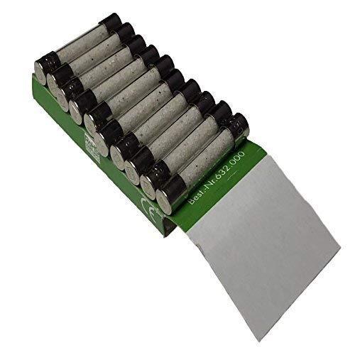 10 x Rational 4001.0224 Forno a Vapore Combinato SLOW Agendo SOFFIATO Fusible 6.3 A 32x6.3mm
